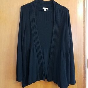 Croft and barrow 1XW flowing black open cardigan